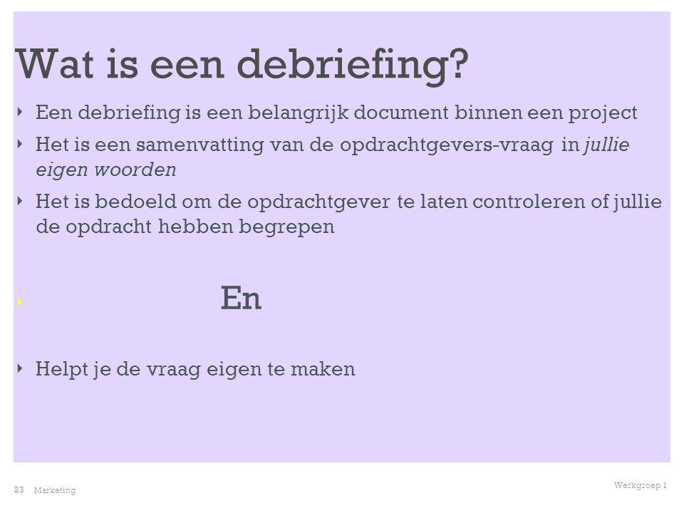 Wat is een debriefing Een debriefing is een belangrijk document binnen een project.