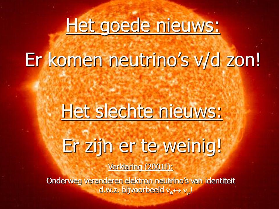 Er komen neutrino's v/d zon!