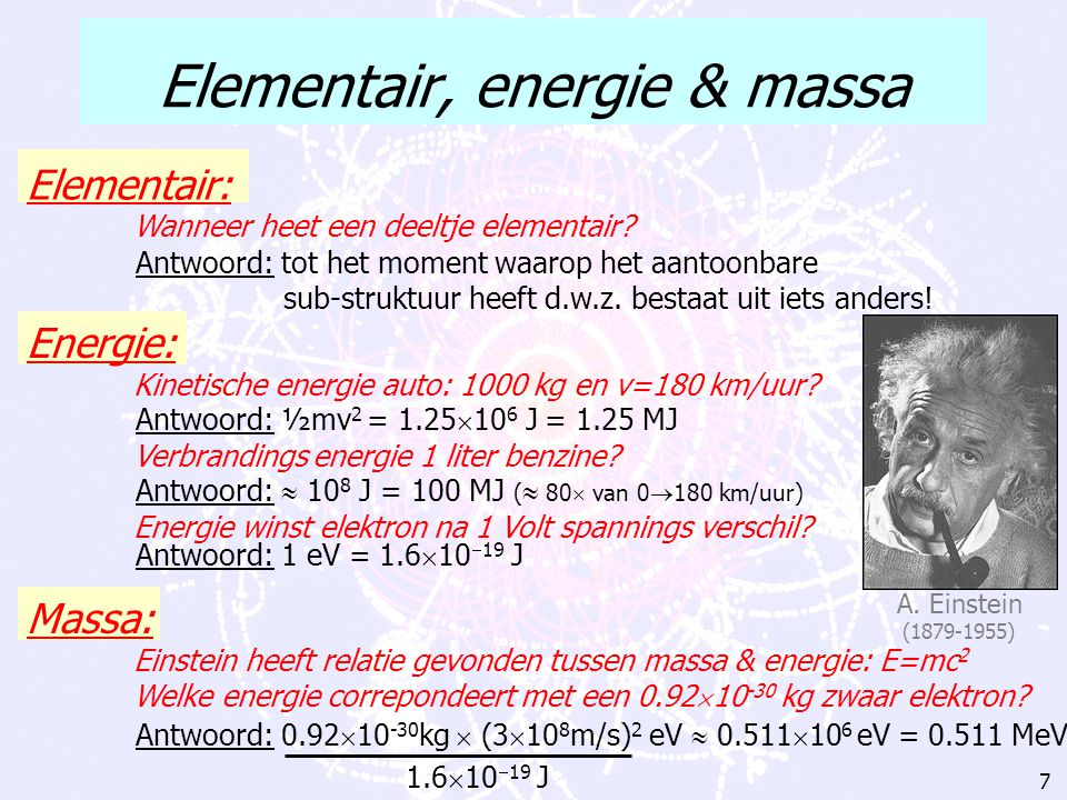 Elementair, energie & massa