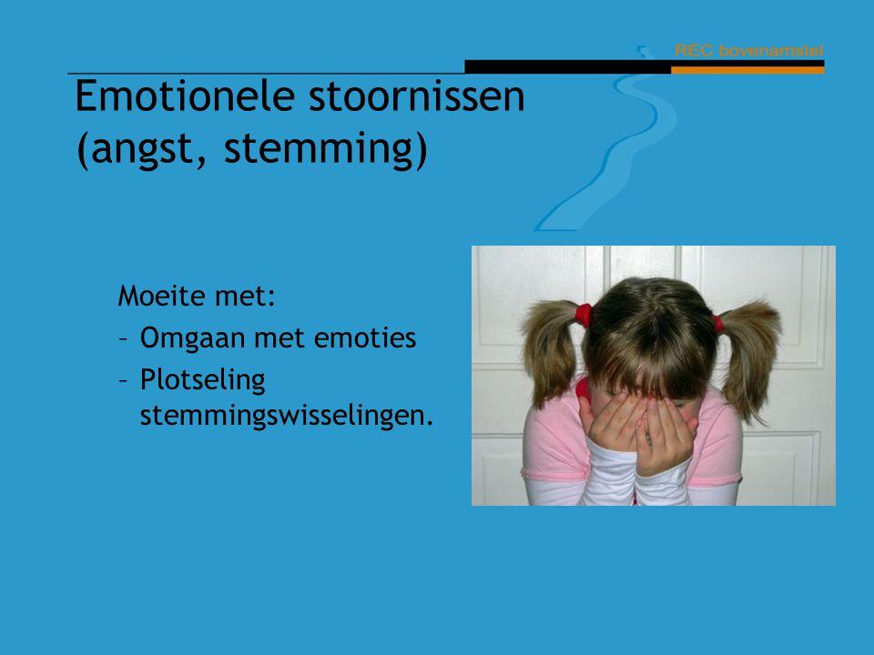 Emotionele stoornissen (angst, stemming)