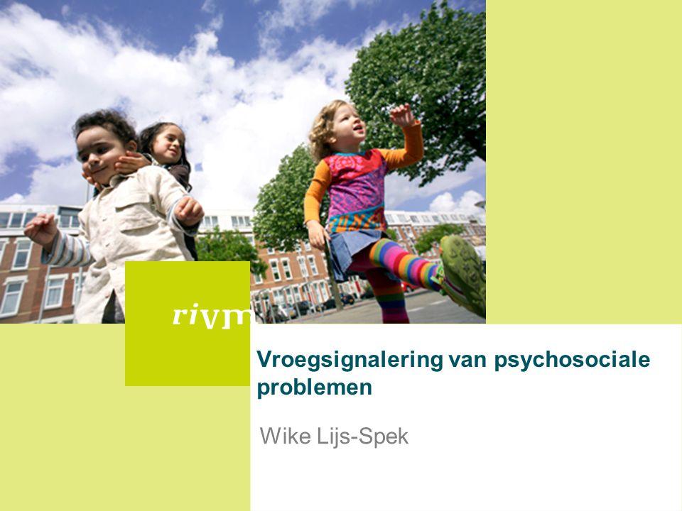 Vroegsignalering van psychosociale problemen