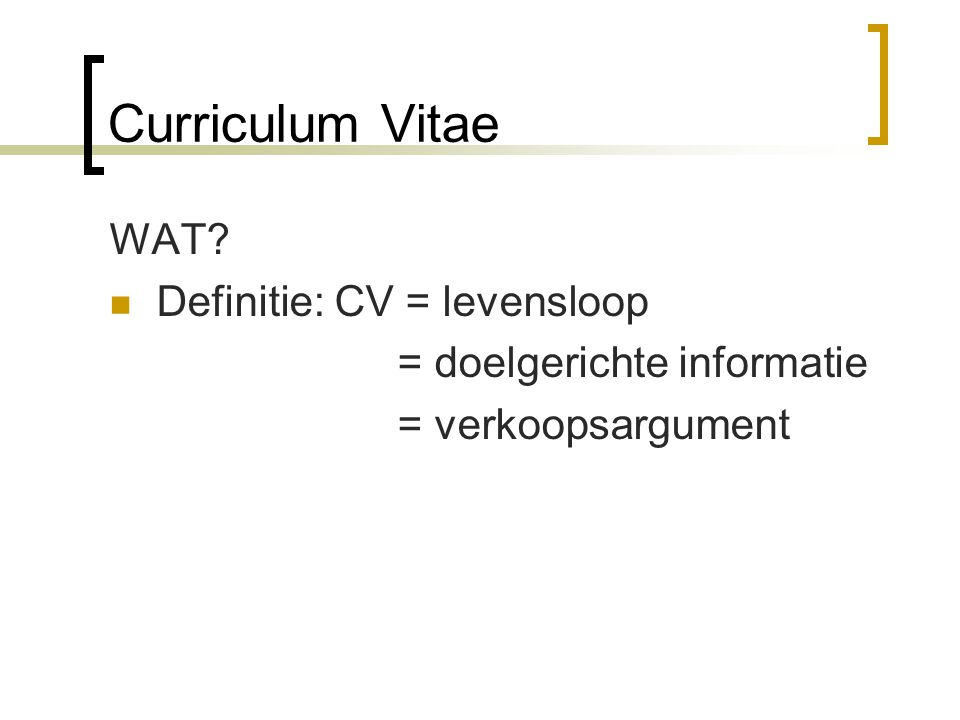 Sollicitatiebrief & CV   ppt video online download
