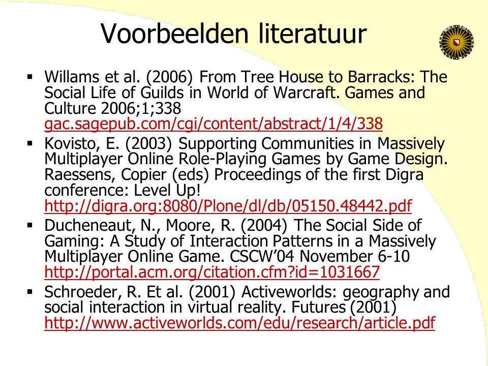 Voorbeelden literatuur