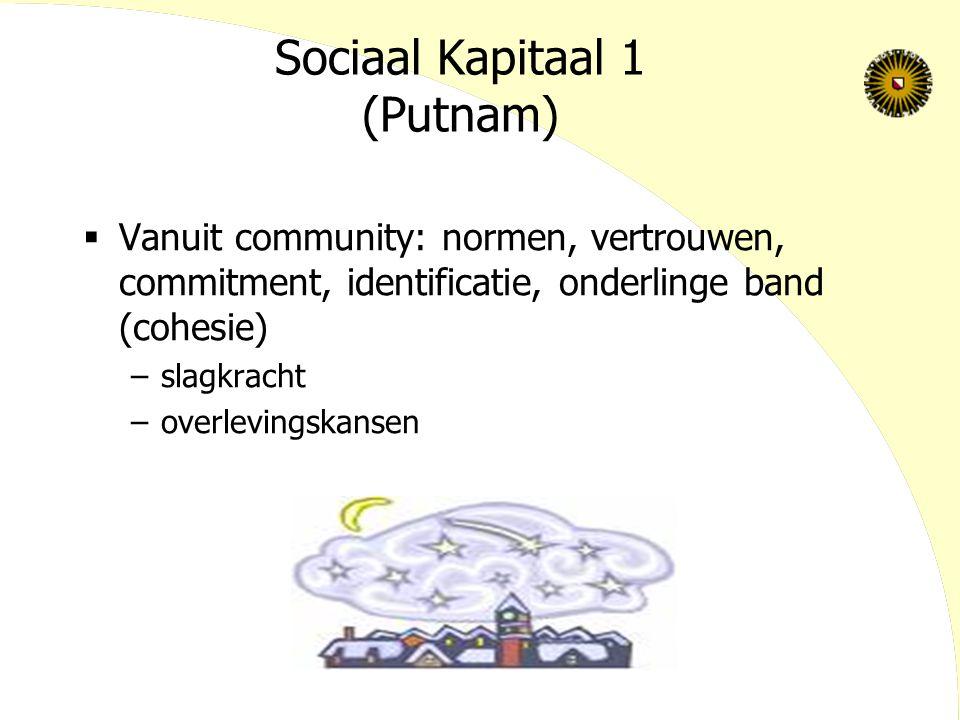 Sociaal Kapitaal 1 (Putnam)