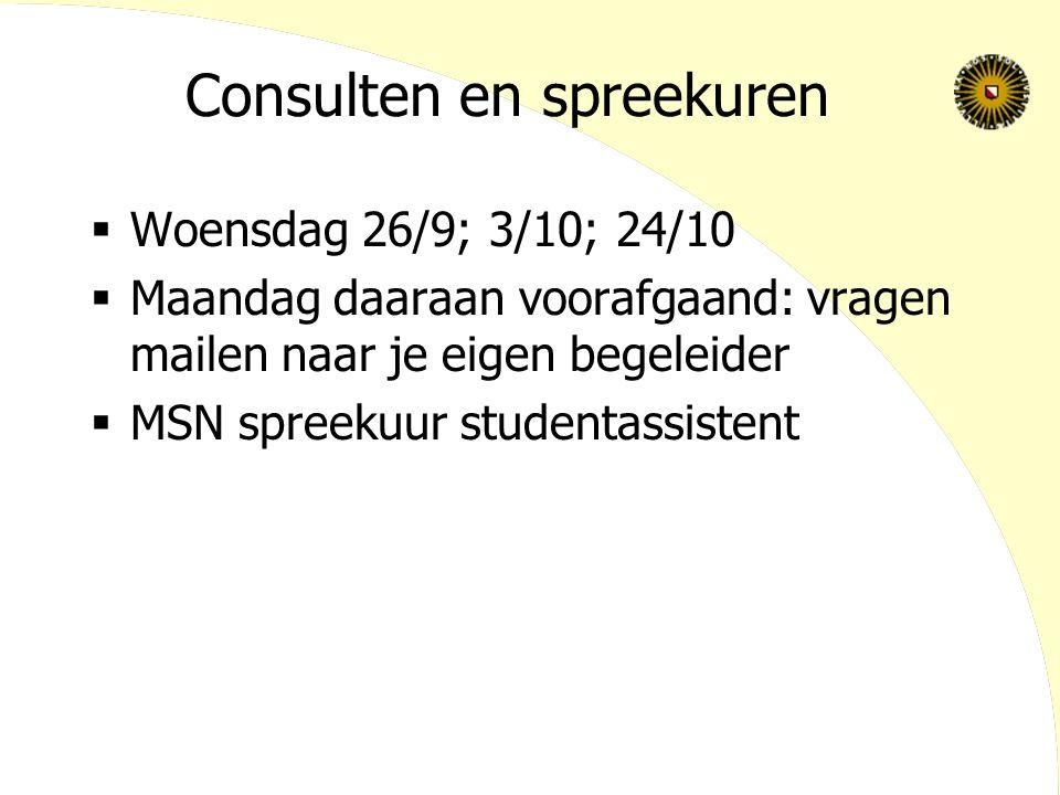Consulten en spreekuren