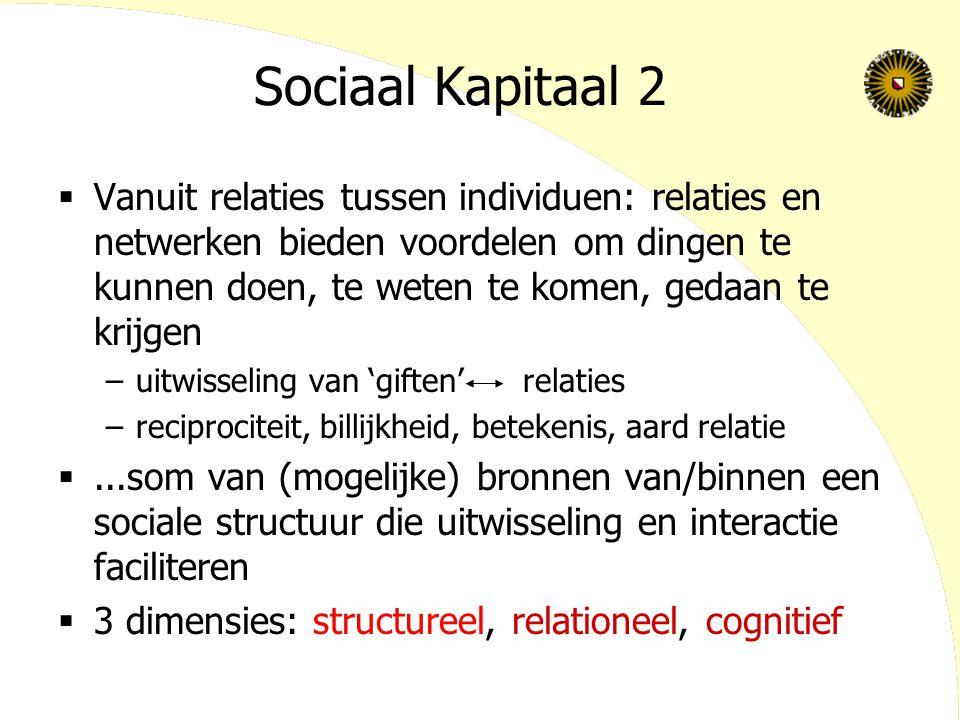 Sociaal Kapitaal 2