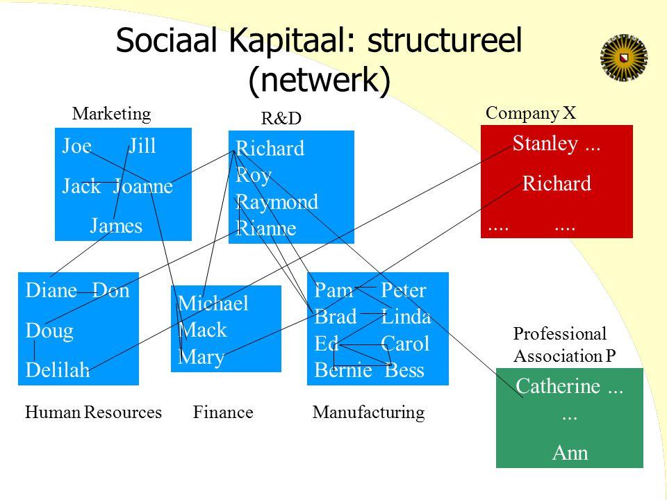 Sociaal Kapitaal: structureel (netwerk)