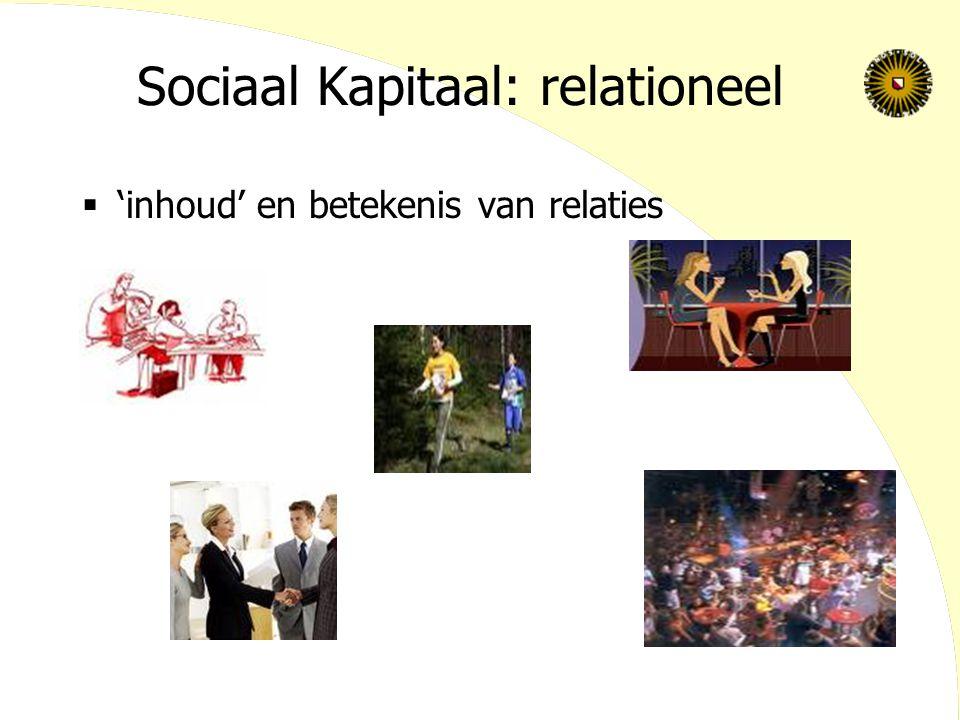 Sociaal Kapitaal: relationeel