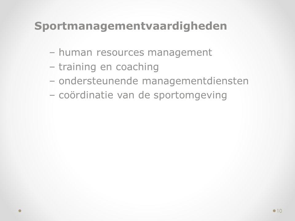 Sportmanagementvaardigheden