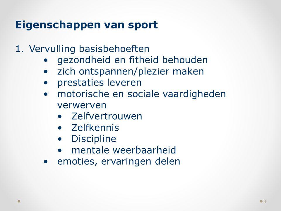 Eigenschappen van sport