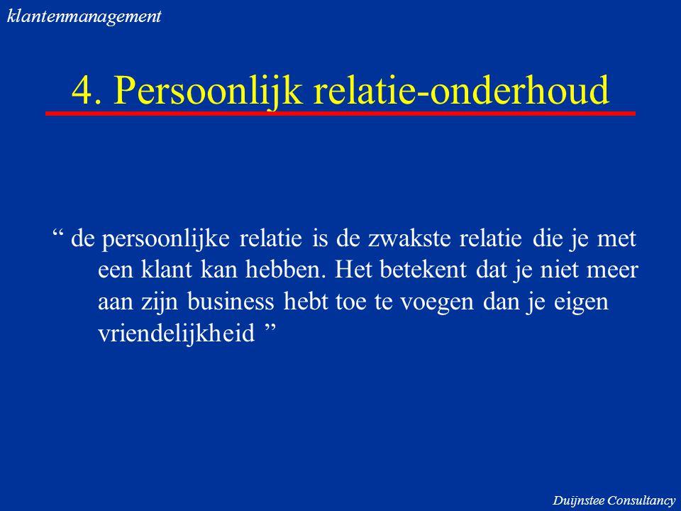 4. Persoonlijk relatie-onderhoud