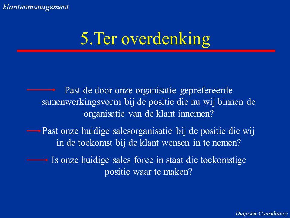klantenmanagement 5.Ter overdenking.