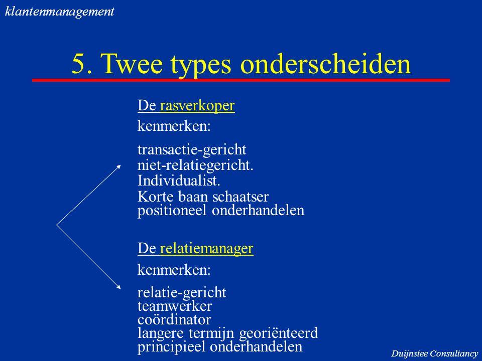 5. Twee types onderscheiden