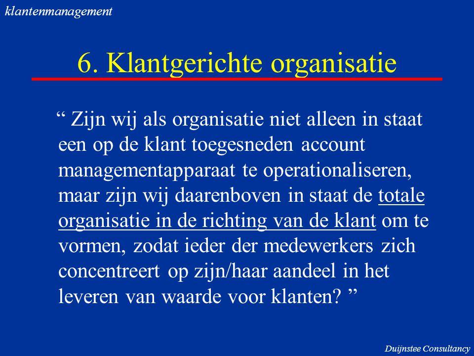 6. Klantgerichte organisatie