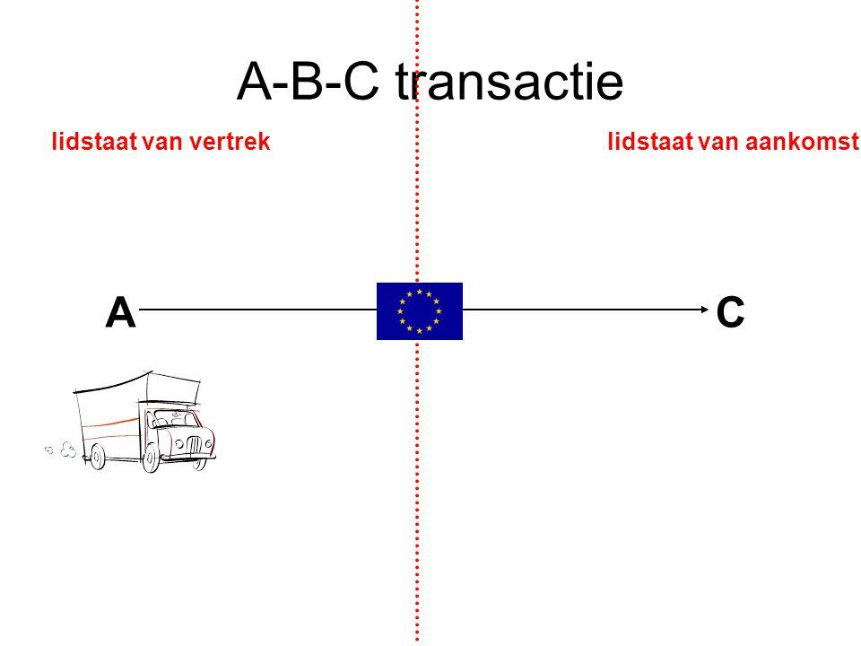 A-B-C transactie lidstaat van vertrek lidstaat van aankomst A B C