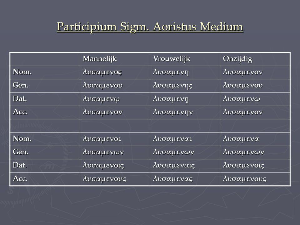 Participium Sigm. Aoristus Medium
