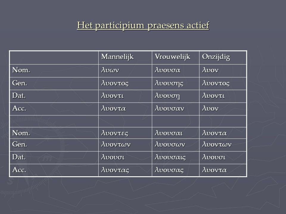 Het participium praesens actief