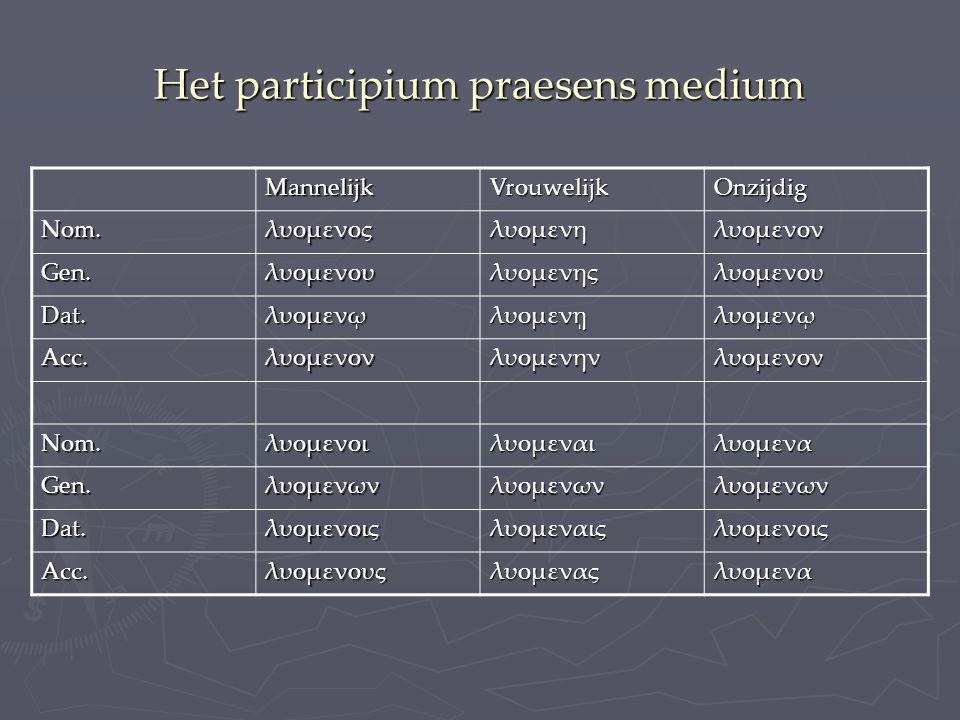 Het participium praesens medium