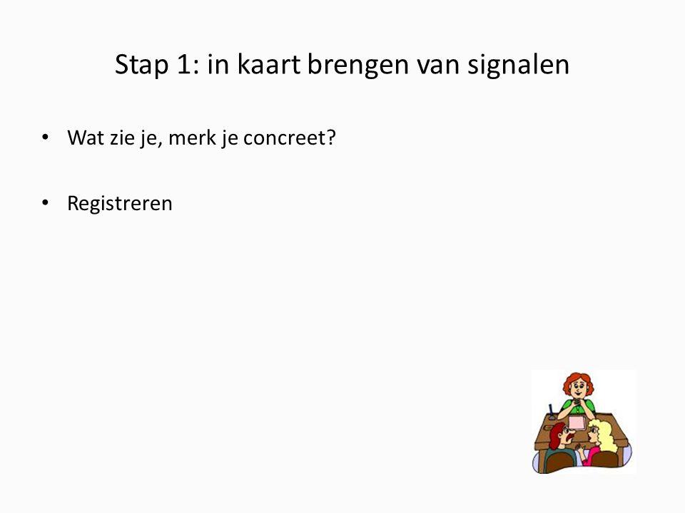 Stap 1: in kaart brengen van signalen