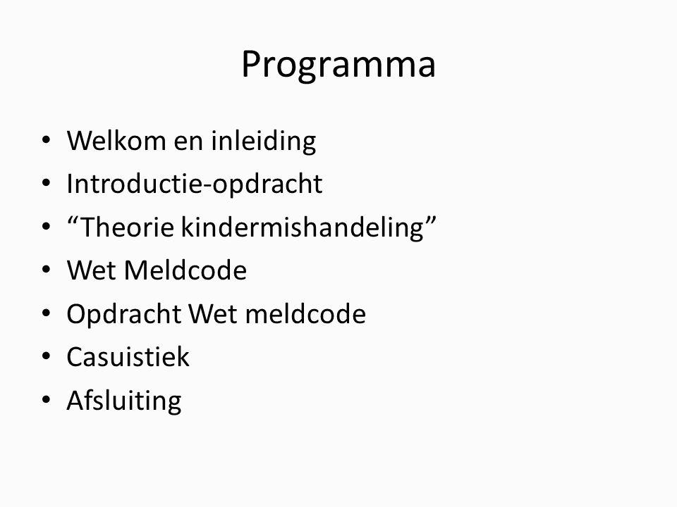 Programma Welkom en inleiding Introductie-opdracht