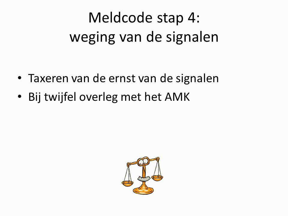 Meldcode stap 4: weging van de signalen