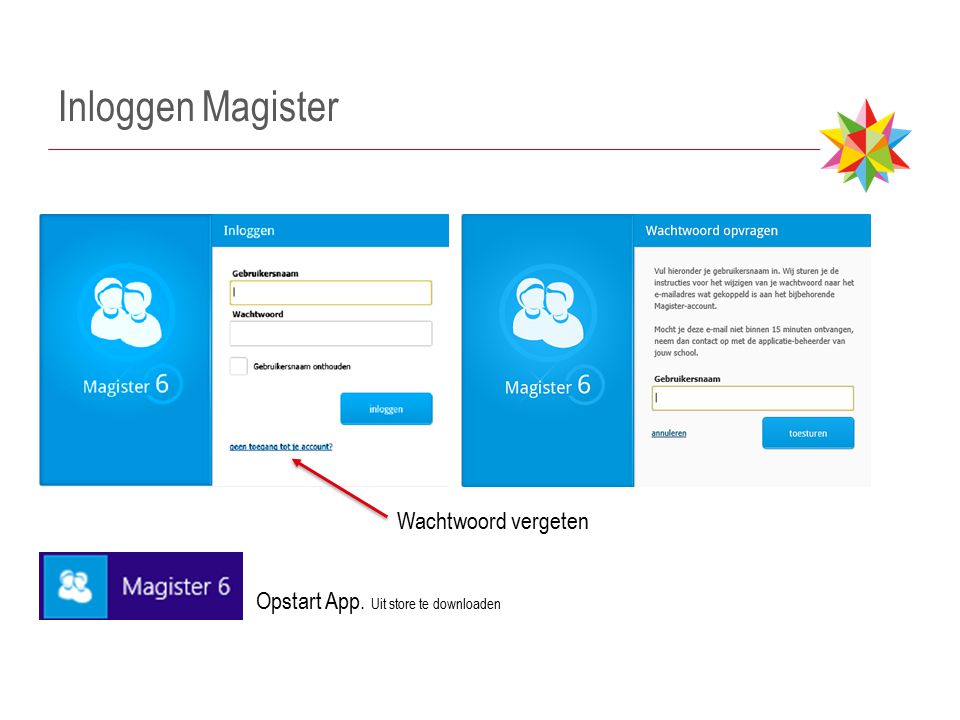 Inloggen Magister Wachtwoord vergeten