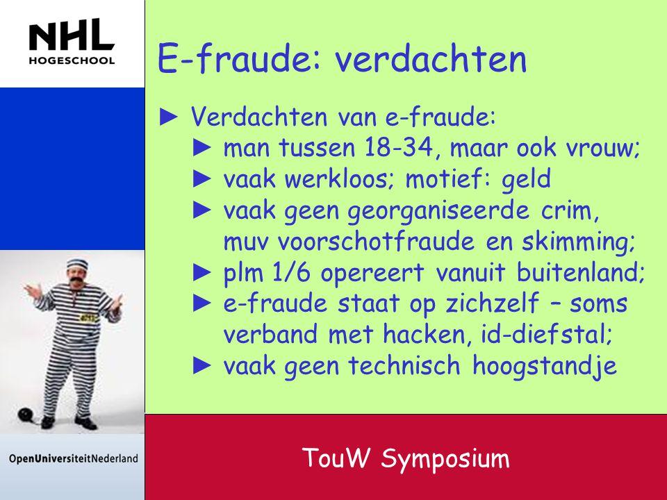 E-fraude: verdachten Verdachten van e-fraude: