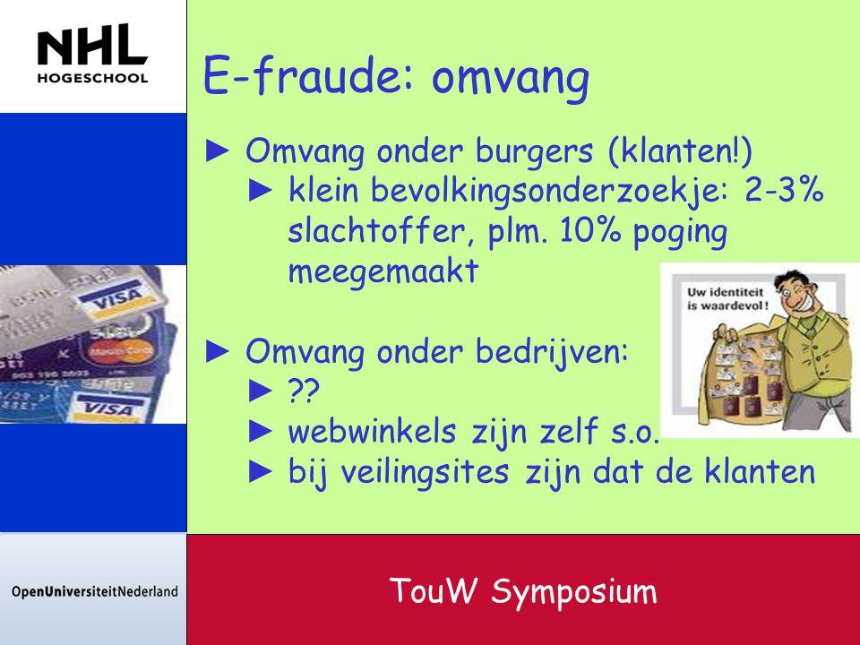 E-fraude: omvang Omvang onder burgers (klanten!)