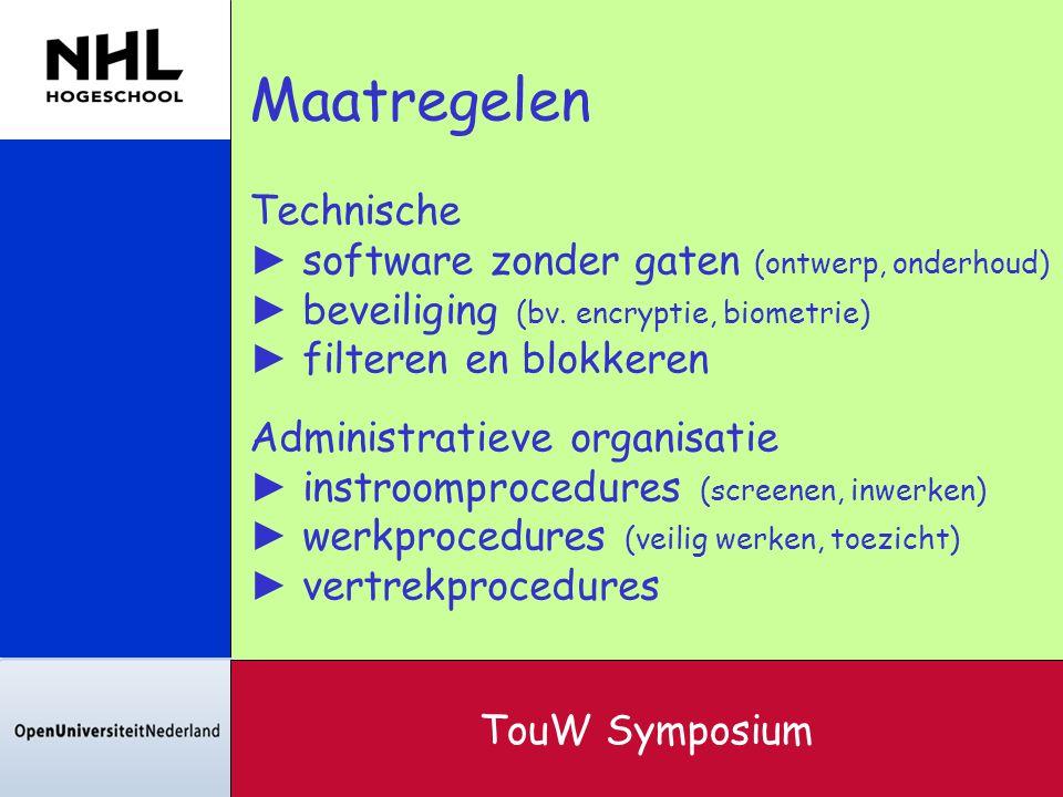Maatregelen Technische software zonder gaten (ontwerp, onderhoud)