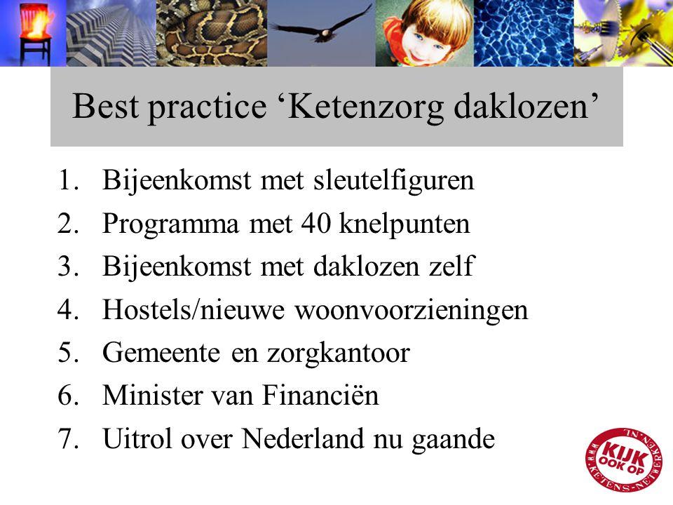Best practice 'Ketenzorg daklozen'