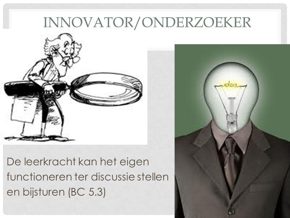 Innovator/onderzoeker