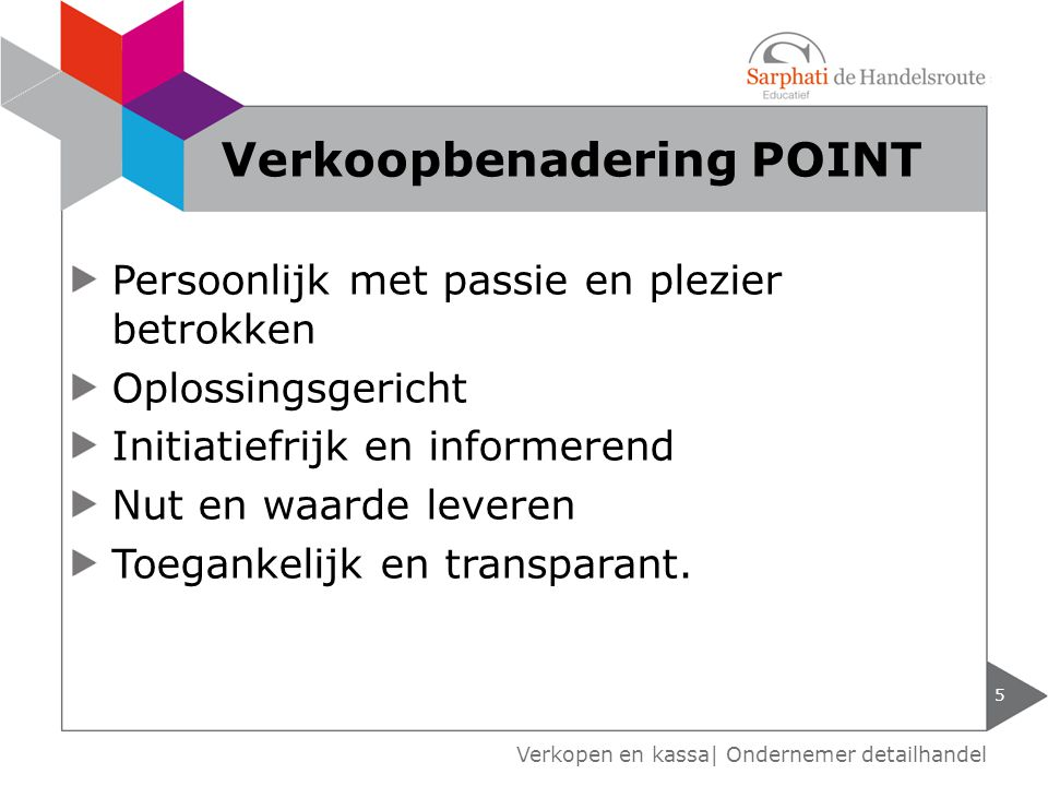 Verkoopbenadering POINT