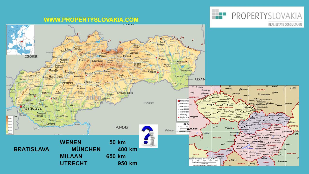 WWW.PROPERTYSLOVAKIA.COM WENEN 50 km. BRATISLAVA MÜNCHEN 400 km.