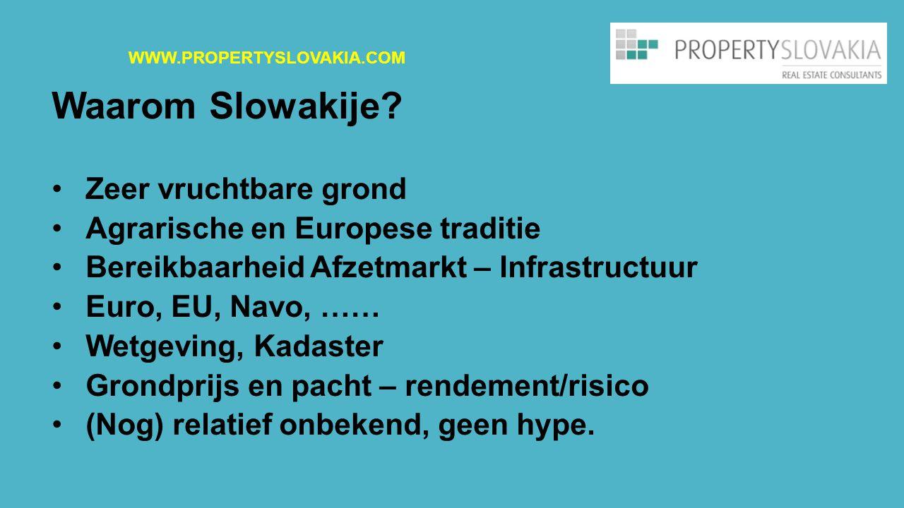 Waarom Slowakije Zeer vruchtbare grond