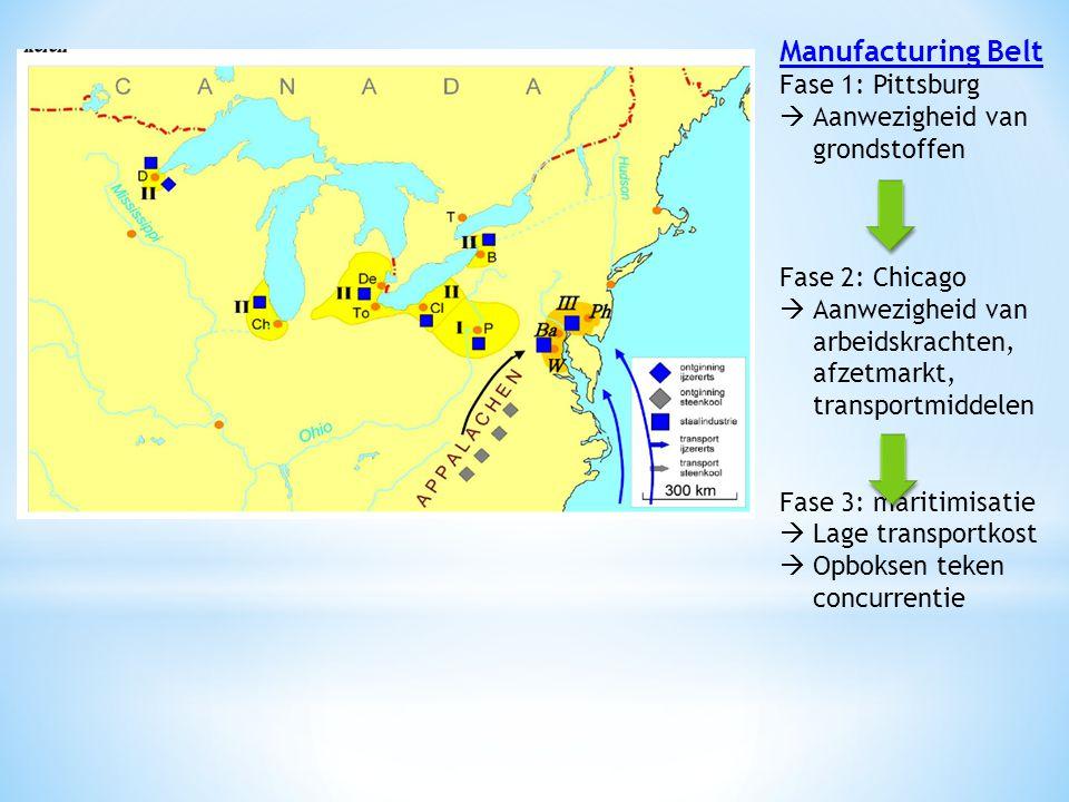 Manufacturing Belt Fase 1: Pittsburg Aanwezigheid van grondstoffen