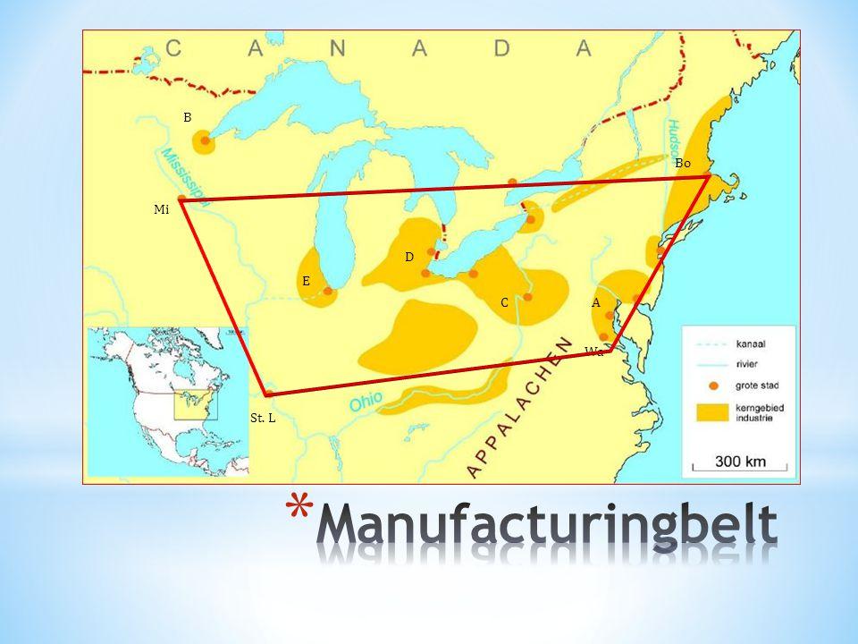 B Bo Mi D E C A Wa St. L Manufacturingbelt