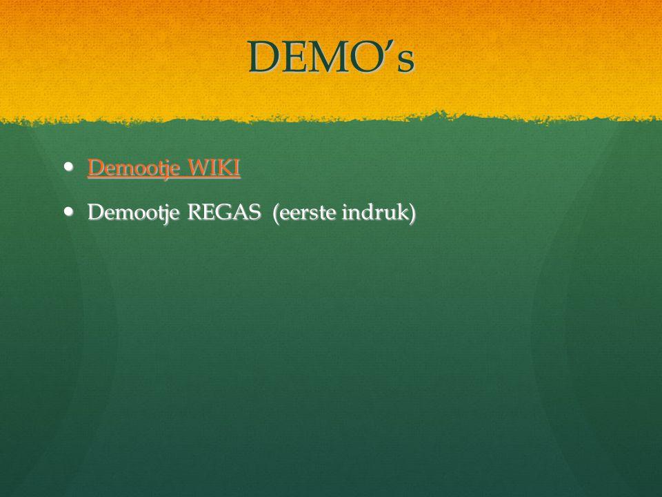 DEMO's Demootje WIKI Demootje REGAS (eerste indruk)
