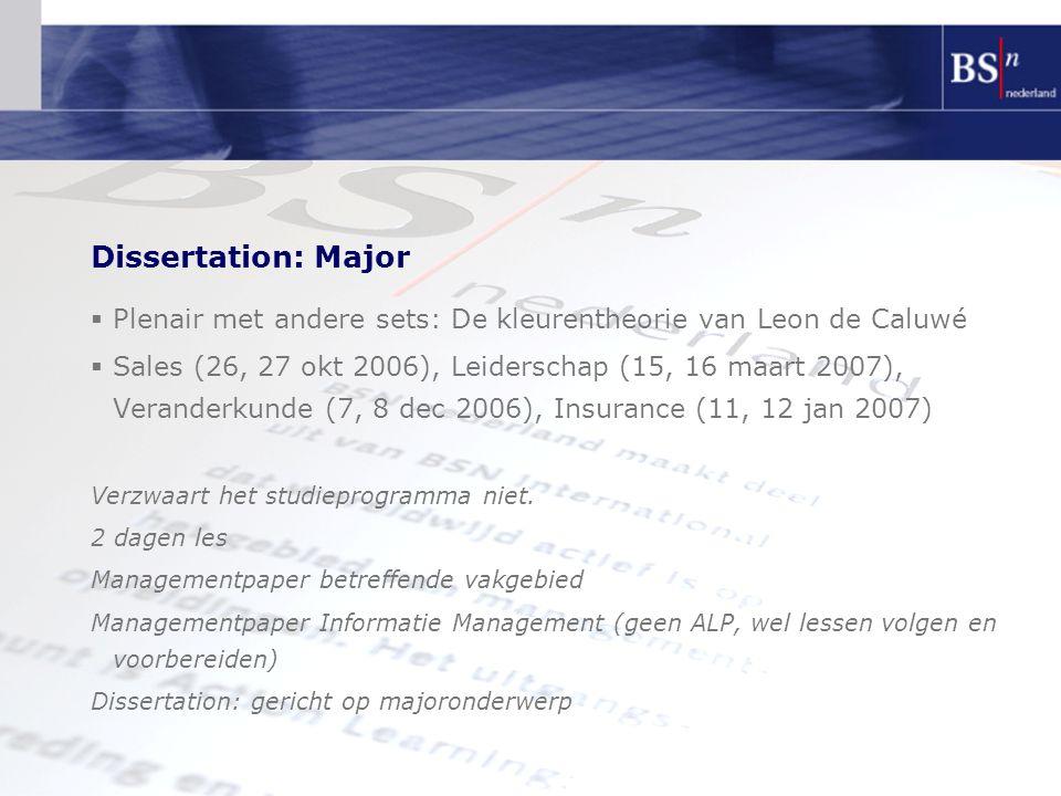Dissertation: Major Plenair met andere sets: De kleurentheorie van Leon de Caluwé.