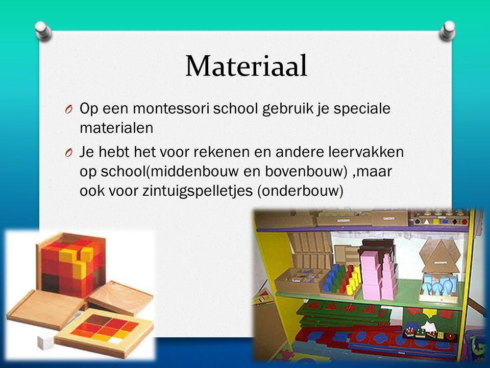 Materiaal Op een montessori school gebruik je speciale materialen