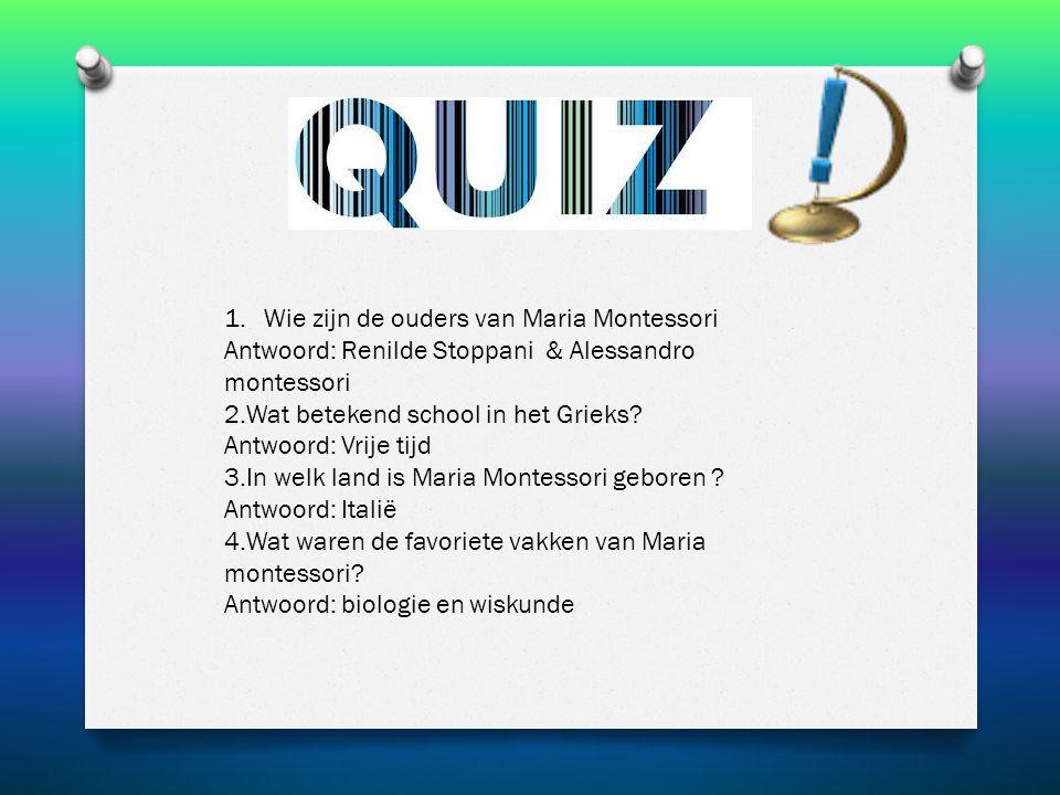 Wie zijn de ouders van Maria Montessori