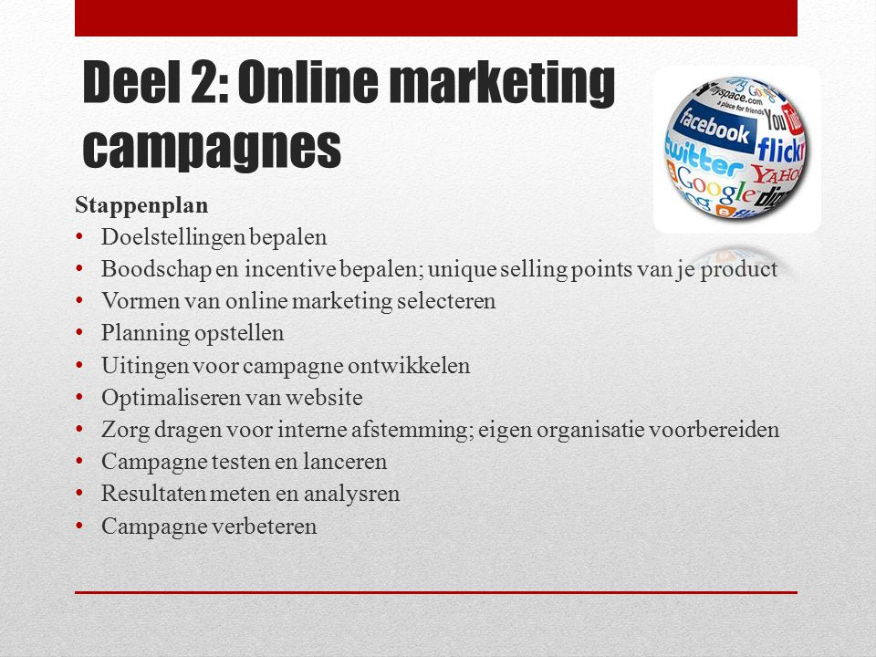 Deel 2: Online marketing campagnes