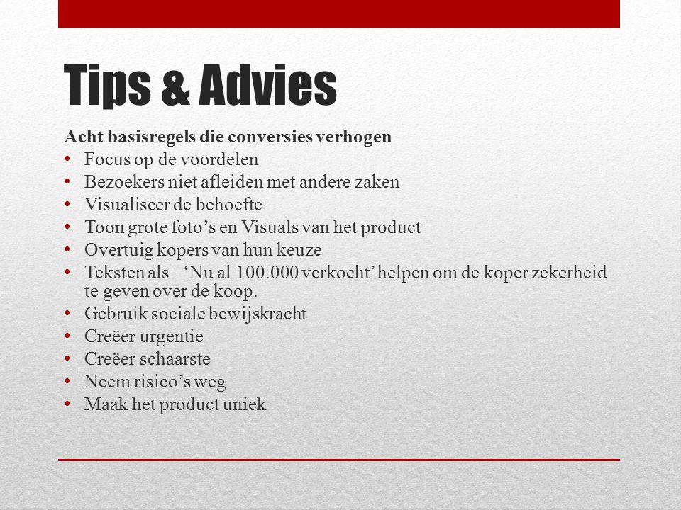 Tips & Advies Acht basisregels die conversies verhogen