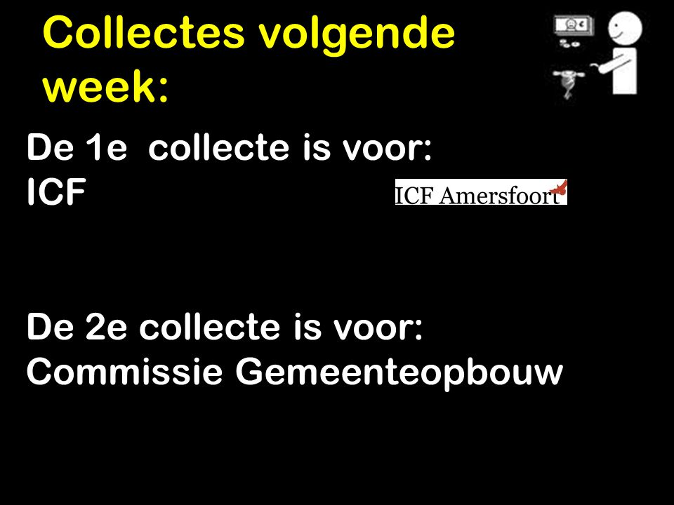 Collectes volgende week: