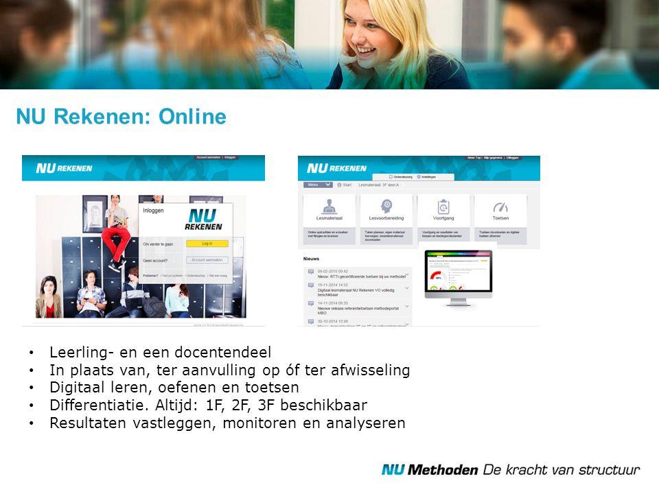 NU Rekenen: Online Leerling- en een docentendeel