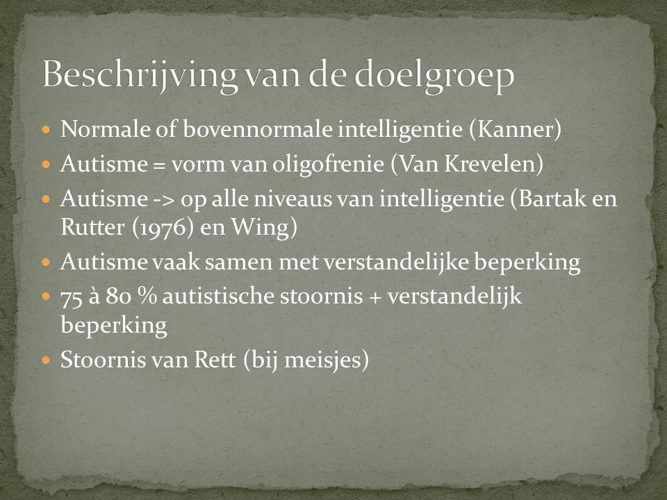 Beschrijving van de doelgroep