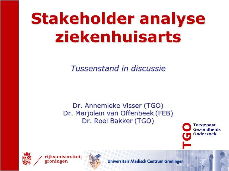 Stakeholder analyse ziekenhuisarts Tussenstand in discussie Dr