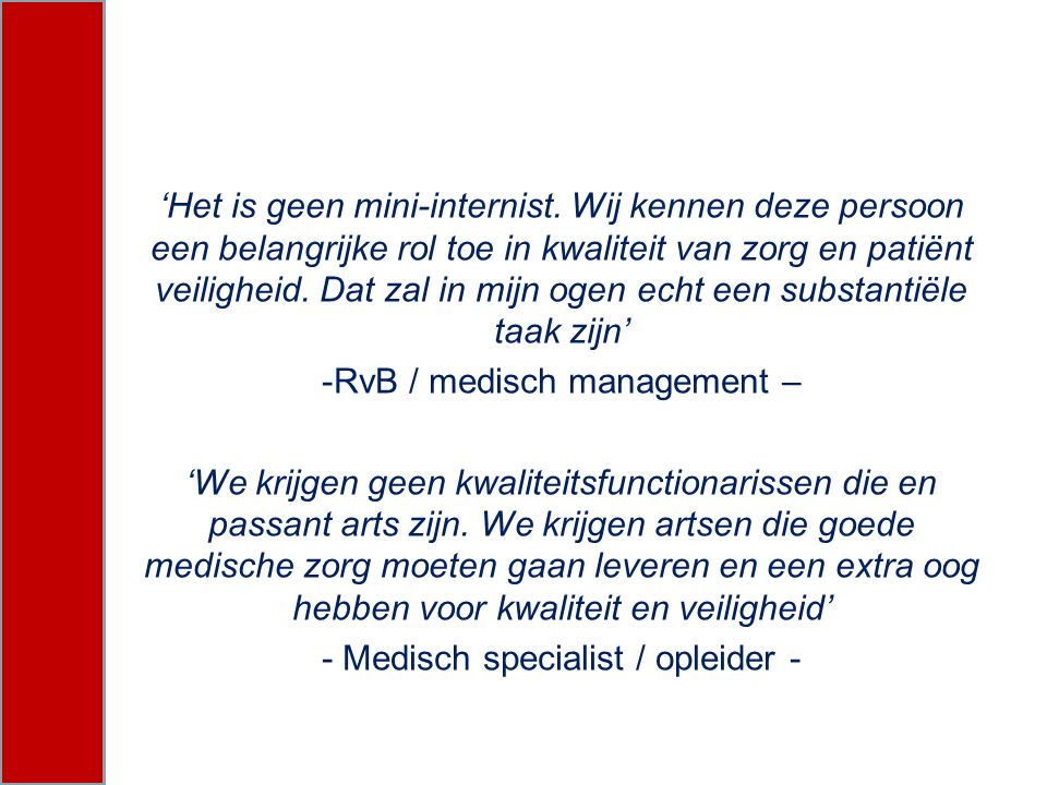 RvB / medisch management –
