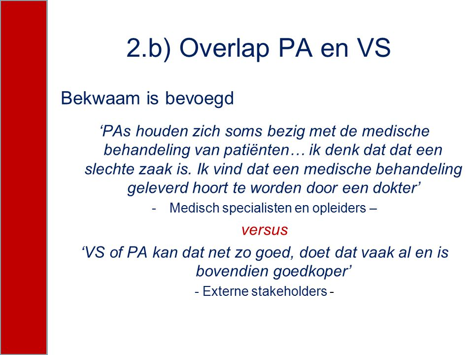 2.b) Overlap PA en VS Bekwaam is bevoegd