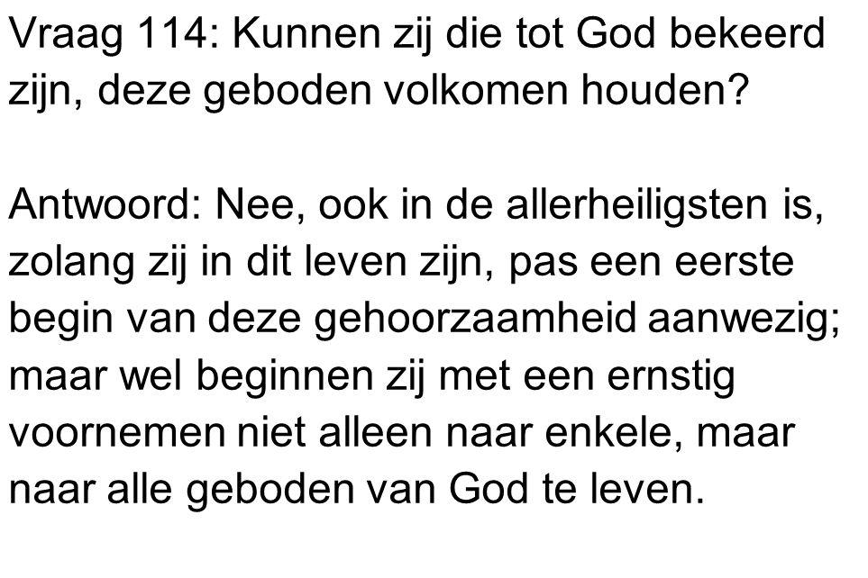Vraag 114: Kunnen zij die tot God bekeerd