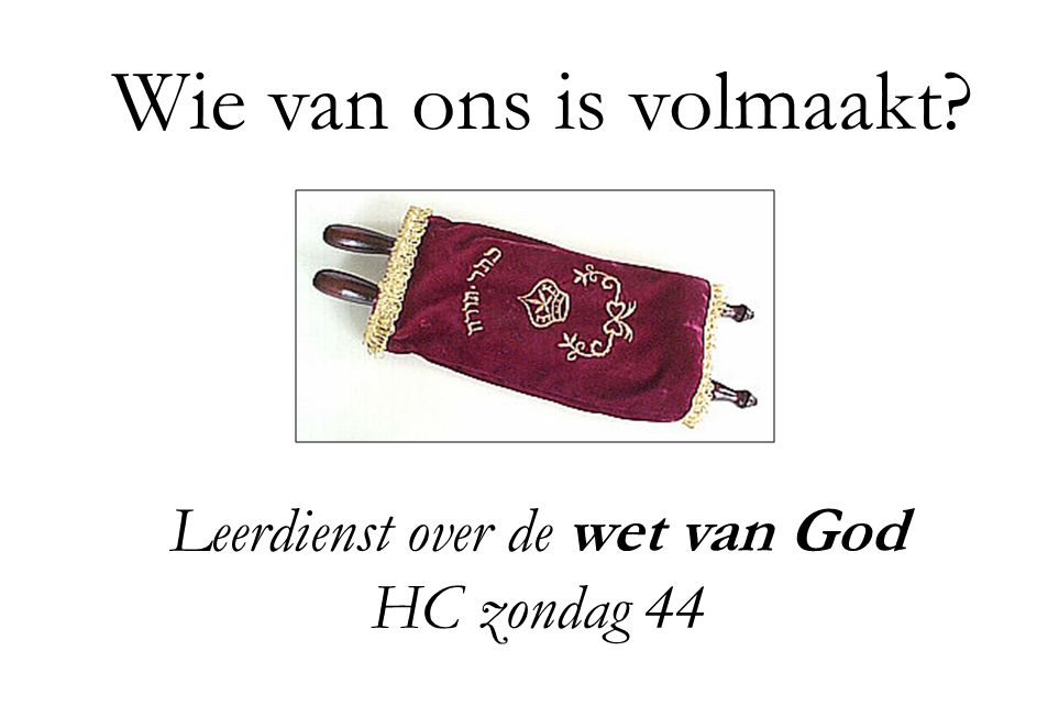 Leerdienst over de wet van God